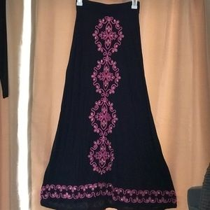 INC embellished Maxi Skirt In Navy Blue And Pink
